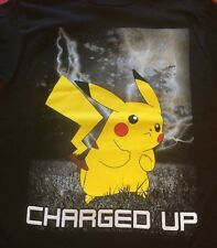 Pokémon Pikachu Charged Up Kids T-shirt Black 8 M