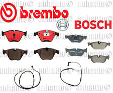 Bosch+BREMBO Front & Rear Brake Pad Set+ Sensors BMW 323i 328i 328xi NEW