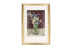 A 1930's John Broberg (1892 - 1979) floral still life painting Swedish oil