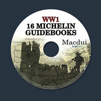 16 Vintage Michelin Guides to the Battlefields WW1 World War 1 PDF e-Book on CD