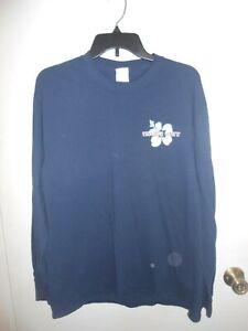 Trader Joe's Long Sleeve Employee Tee Shirt  Dark Blue Large