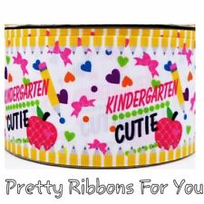 "kindergarten cutie 3""  grosgrain ribbon the listing is for 2 yards"