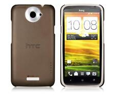 iShell Frosted Black Snap-On Case + Screen Protector for HTC One X