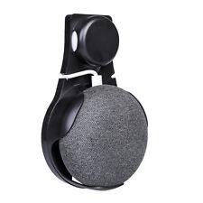 Wall Outlet Mount Holder Hanger Grip for Google Home Mini Voice Assistants Black