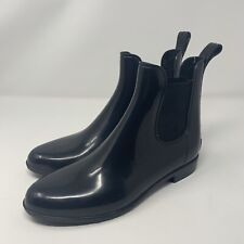 Womens Bass Chelsea Rubber Boots Black Size 10