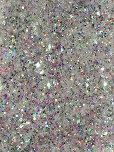 """Nail Art Iridescent Holo Fine Chunky Glitter Mix - """"Crushed Diamonds"""" 5g Bag"""