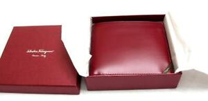 SALVATORE FERRAGAMO Firenze Leather Wallet Card Holder NEVER WORN WITH TAG & BOX