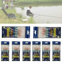 6Pcs Sabiki Rig Real Fish Skin Saltwater Fishy Smell Hot Fishing Luminous R J5N5