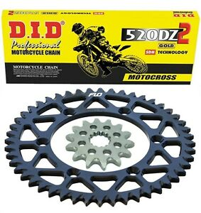 Yamaha YZ250F 2001 - 2020 D.I.D. Motocross Chain new Sprocket Combo Kit 50/13T