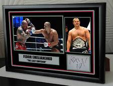 "Fedor Emelianenko Framed Canvas Signed Print     ""Great Gift"""