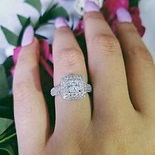 1.75 Ct Diamond Princess Cut 14K White Gold Fn Bridal Engagement Wedding Ring