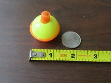 "100 1.25"" FISHING BOBBERS Round Floats Yellow / Orange SNAP ON FLOAT Bulk Pack"