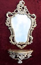 Espejo de Pared Plata Antigua con consola 50x76 emplazamiento Barroco