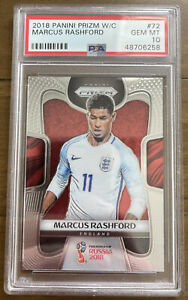 2018 Panini Prizm World Cup #72 Marcus Rashford PSA 10 GEM MT