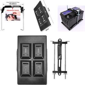 Car Storage Battery Holder Plastic Tray + Adjustable Hold Down Clamp Bracket Kit