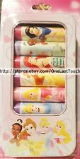 DISNEY PRINCESS 7pc Lip Jelly/Balm+Tin Set/Lot~RASPBERRY+STRAWBERRY+FRUIT PUNCH
