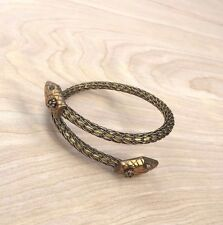 NWT JAN MICHAELS Snake Brass Metal Rope Bangle Cuff Bracelet Handcraft USA $114