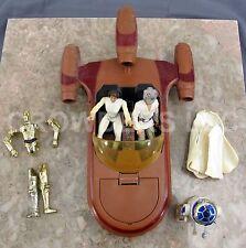Star Wars PotF Luke Skywalker Princess Leia R2D2 & C3PO w/ Vintage Landspeeder