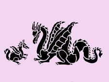 DRAGON STENCIL BORDER DRAGONS STENCILS BACKGROUND TEMPLATES PATTERN TEMPLATE NEW
