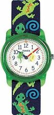 Timex T72881, Kid's Lizard Print Fabric Analog Watch,  Time Machines