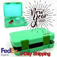 Aohea Kids Bento Box for Lunch or Snack Microwavable Buckle Lock & Sealed - Lime