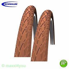 01022609b2 2 x Schwalbe Road Cruiser neumáticos de bicicleta manta + reflex marrón 47-559