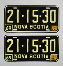 AUTHENTIC 1971 NOVA SCOTIA LICENSE PLATES