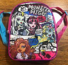 Pequeño mochila de Monster High Mattel Lentejuelas Brillantes Bolsa De 10 X 8.5 Niñas De Mochila