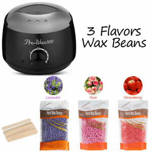 Waxing Kit Wax Heater Warmer Pot Hair Removal Machine +300g Wax Beans +12 Sticks
