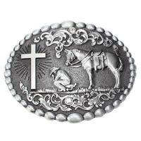 Cowboy Jeans Western Horse Cross Belt Buckles Men's Accessories