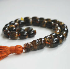 islamic prayer beads baltic Amber 33 Misbaha Tasbih 32 gr barrel shaped