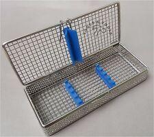 Maglia Perforata la sterilizzazione CASSETTA Vassoio Rack 5 strumenti dentale autoclave