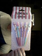PUCKALICIOUS 5 SCENTED PENS  IDEAL SCHOOL OFFICE BIRTHDAY !  FREE UK POST