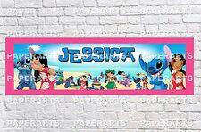 Personalized Lilo and Stitch Name Poster with Border Mat Art Decor Wall Banner