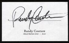 Randy Couture Signed 3x5 Index Card Signature Autographed UFC MMA Champion
