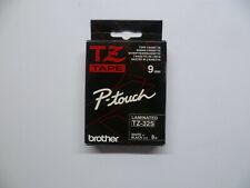 Brother Tape Cassette TZ-325 White On Black 9mm Label Tape Cartridge Laminated