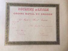 ROYAUME D'ANNAM  ORDRE ROYAL DU DRAGON