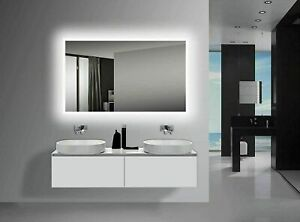 """Yukon CRYSTAL-40""""x24"""" Rectangle LED wall mounted mirror with Touchless Control"""