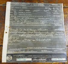 1944 Delayed Special Certificate of Birth Jefferson MO Missouri Melvin Lohman
