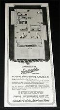1927 OLD MAGAZINE PRINT AD, SEEGER REFRIGERATOR MODEL 912 CABINETS, SAINT PAUL!