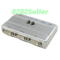 DVI 2 Port 2:1 Manual Switcher Selector Switch Box NEW TV LCD Monitor single NEW