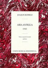 Joaquin Rodrigo Aria Antigua For Flute String Orchestra Piano Music Book