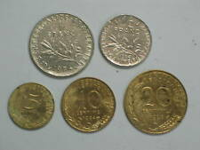 FRANCE 5 different COINS