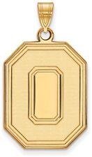 10 Quilates Oro Amarillo Ohio Estado University XL Colgante por logoart