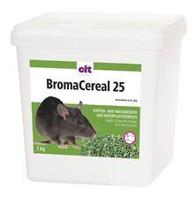 BromaCereal  < 0,0029% Bromadiolon 3 kg Rattengift Mäusegift Haferflocken Köder