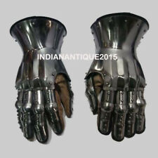 New Knight Gauntlets Functional Armor Gloves Leather Steel SCA LARP