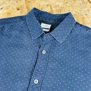 Classic Mens 42 Chest Navy Paul Smith Smart Polka Dot Style Medium Shirt