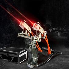 Pro Hunting Sniper Archery Laser Sight Slingshot Folding Wrist Brace Catapult