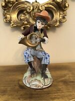 Vintage Dresden Monkey Band Horn Player Figurine Meissen Style