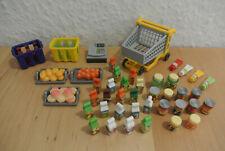 Playmobil * Supermarkt * Lebensmittel Flaschen Einkaufswagen * Top Zustand !!!